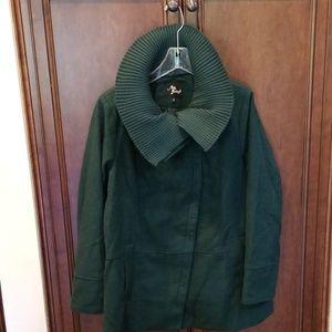 Green Diagonal Alley Coat sz XL pockets winter